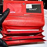 Женский черный кошелек из натуральной кожи Prensiti на кнопке, фото 4
