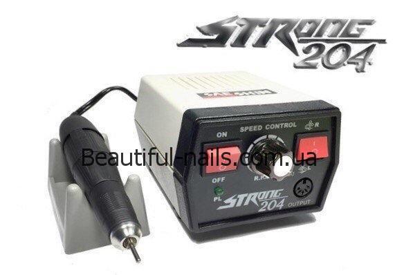 Профессиональный фрезер для аппаратного маникюра Strong 204 на 35 000 об/мин. 65 ватт