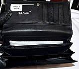 Женский черный кошелек из натуральной кожи Prensiti с монетницей снаружи, фото 3
