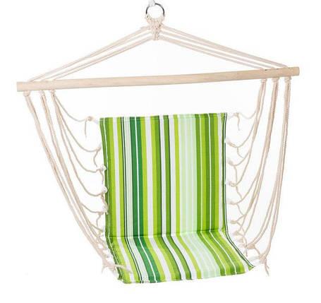 Гамак сидячий с деревянной планкой B06 подвесное кресло с спинкой гамак для сада дачи, фото 2