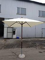 """Зонт деревянный """"Варна"""" 2х2м для пляжа и кафе"""