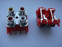 Разьем DKB1083, AL4977 RCA (тюльпаны с землей) для djm500, 600, 700, 750, 850, 900, 2000