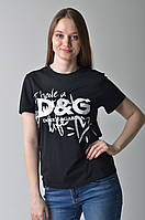 Женская футболка с надписями D&G