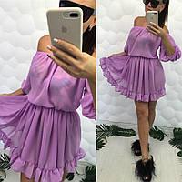 Шифоновое пляжное платье-туника