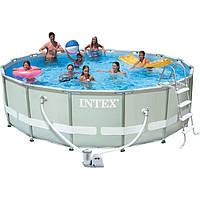 Бассейн каркасный INTEX Metal Frame Pool полный комплект