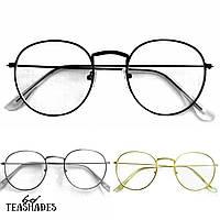 Имиджевые Очки Почти Круглые от Teashades - Dior Prada Versace Chanel Bershka Zara H&M Mango M&S