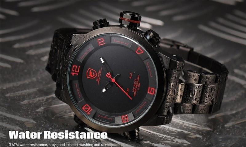Мужские часы Shark Digital LED Date Day Army, минеральное стекло, фирменная коробочка