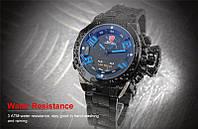 Мужские часы SHARK Men LED Blue Digital Day Date, минеральное стекло, японский механизм, фото 1