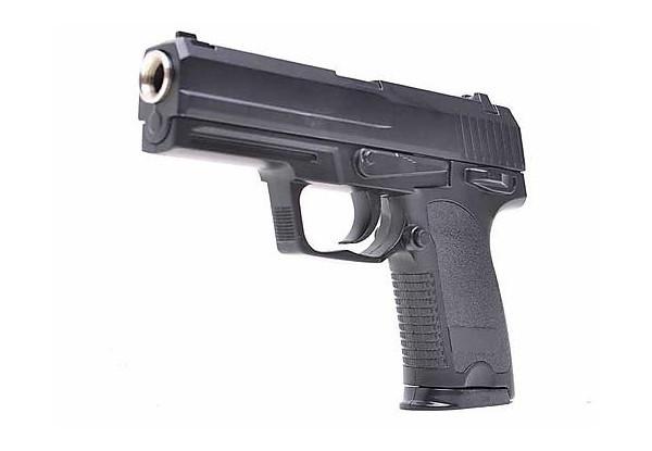 Пневматический детский игрушечный пистолет ZM20, на пульках, металлический, копия Heckler and Koch USP