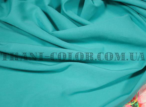 Ткань бенгалин голубая бирюза, фото 2