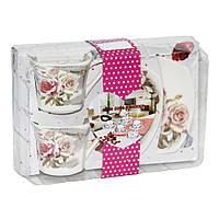 Кофейный набор Роза на 2 персоны, 100 мл ( чашки и блюдца )