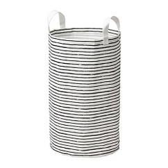 Мешок для белья IKEA KLUNKA 60 л белый черный 503.643.71
