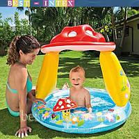 Детский надувной бассейн 57114 с навесом, детские надувные  бассейны, игры для детей, Интекс