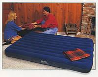 Двухмесный надувной матрас Intex 68759, велюровое покрытие, двухспальный, надувные матрасы Интекс