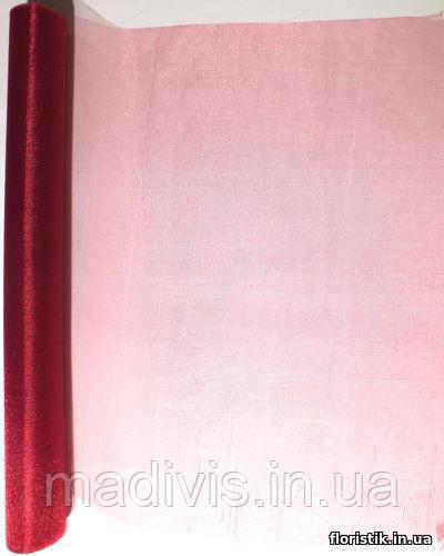 Органза снег вишневая (48 см. х 4,6 м.)
