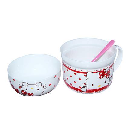 Детский набор посуды Китти ( супница 800 мл и пиала 400 мл ), фото 2