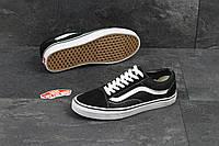 Кеды Vans Old Skool Вансы черные с белым