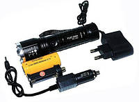 Фонарик Bailong Police BL-E3, зум, две зарядки, акамулятор, хороший фонарь
