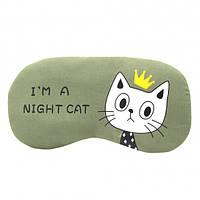 Маска для сна Night cat green
