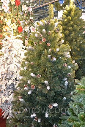 Елка искусственная на нитях зеленая 1.60 метра Праздничная, фото 2