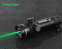 Лазерный целеуказатель ЛЦУ зеленый с выносной кнопкой, крепление на прицел и планку Вивера, лазерные прицелы