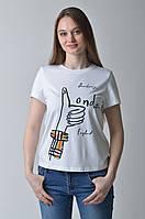 Женская футболка с надписями Burberry белая