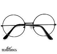 Имиджевые Очки Круглые от Teashades - Dior Prada Zara Mango Benetton M&S H&M Bershka Черный