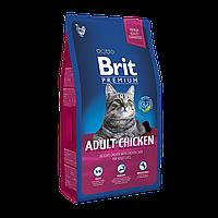 Корм для кошек котов Brit Premium Cat Adult (Брит премиум кэт) с курицей 8 кг