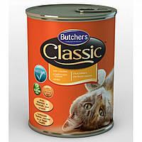 Корм консерва для кошек Butcher`s Cat Classic Chicken (Бутчерс Кет Классик) с курицей 400 г