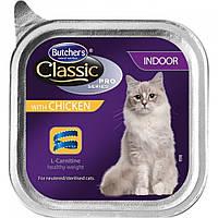 Корм паштет для кошек Butcher`s Cat Pro Indoor Chicken (Бутчерс Кет Про) с курицей 100 г