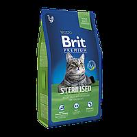 Корм для котов кошек Brit Premium Cat Sterilized ( Брит Премиум Кэт Стерилайзет ) с курицей 8 кг