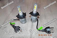 Автомобильные светодиодные лампы дальнего и ближнего света S2 H4, фото 3