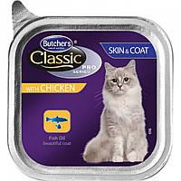 Корм консерва для кошек  Butcher`s Cat Pro (Бутчерс Кет Про) с курицей для улучшения шерсти 100 г
