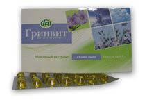Масло семян льна в капсулах «Гринвит» №84
