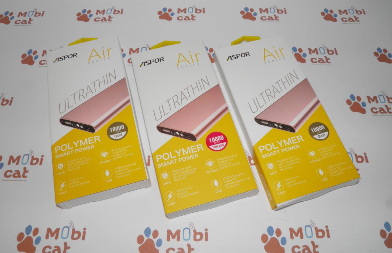 Внешний аккумулятор (Power Bank) Aspor A383 10000mAh