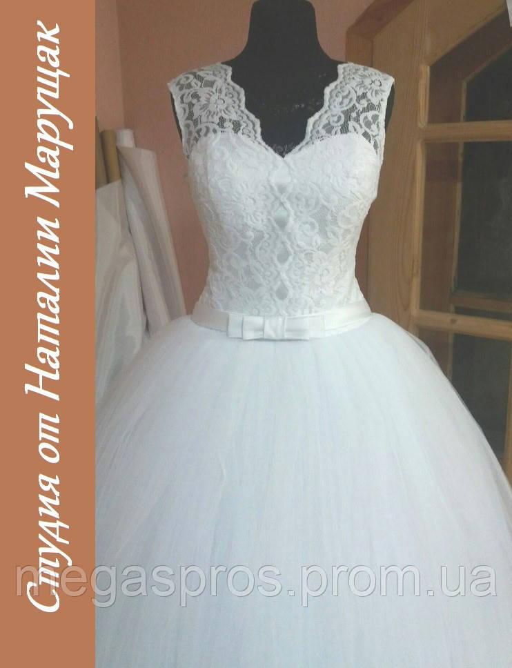 Свадебное платье. Белый фатин 228a163a0fec1