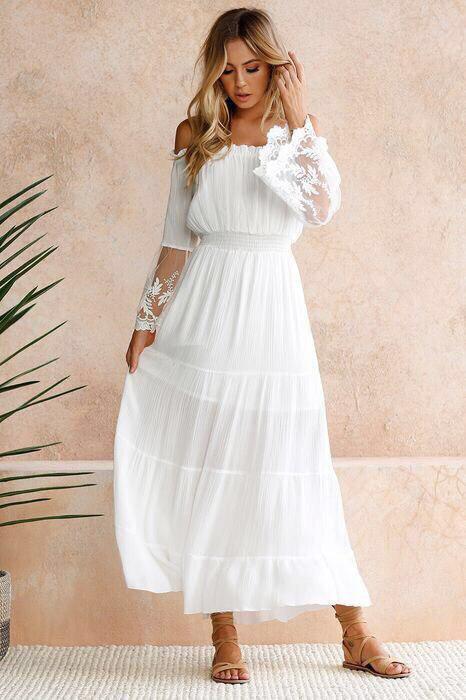 0547e83063b Длинный белый сарафан женский   продажа