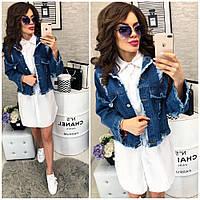 Куртка джинсовка женская короткая Джинс 364
