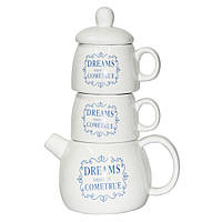 Набор Чай для двоих ( чайник 500 мл и 2 чашки 250 мл )