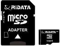 Карта памяти RiDATA microSDHC 16GB Class 10 + SD адаптер