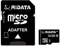 Карта памяти RiDATA microSDHC 32GB Class 10 UHS-I + SD адаптер