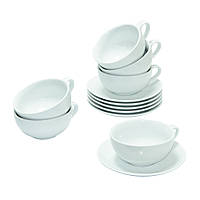 Набор Белый чай на 6 персон ( чашки и блюдца )