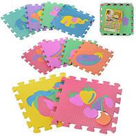 Коврик Мозаика M 0376, мягкий коврик пазл, коврик мозаика, развивающие игрушки