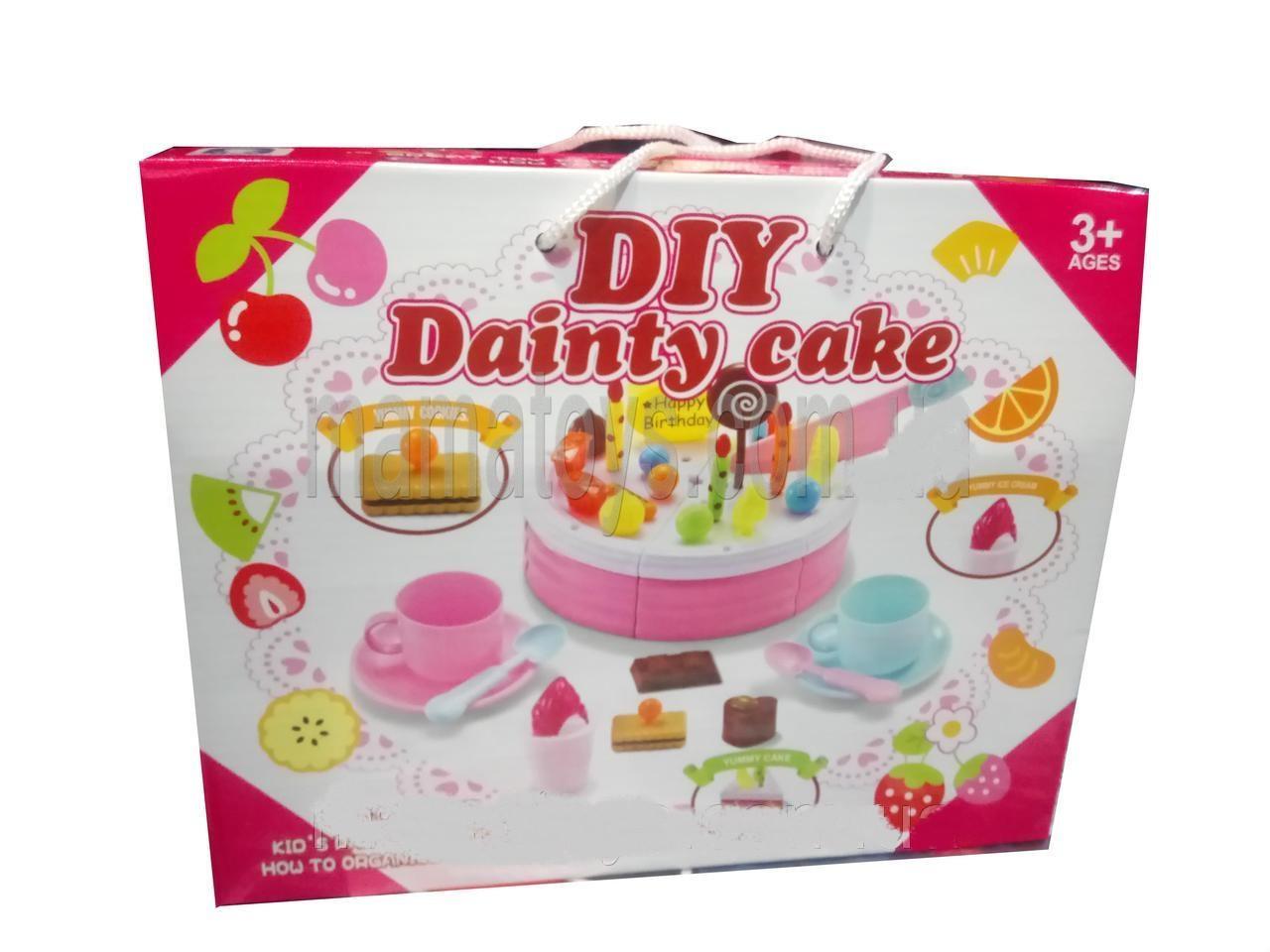 89e21e1e6c9cb Набор продукты на липучке LKE12J, торт, украшения для торта, посуда, игрушечные  продукты