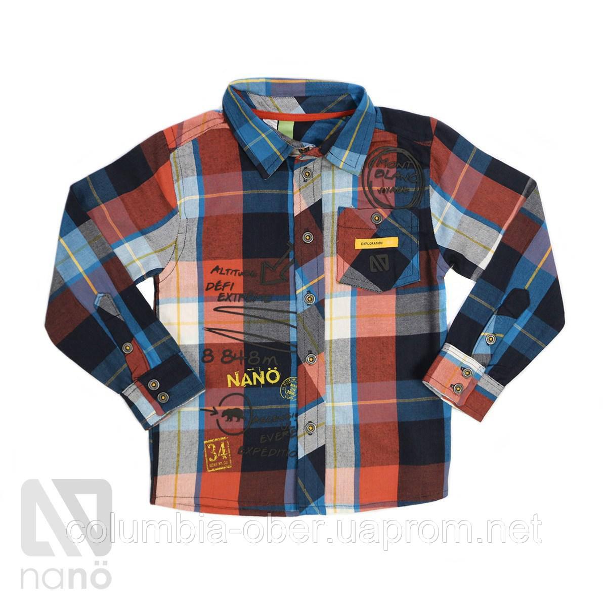 Рубашка для мальчика Nano F1403-04 Plaid. Размеры 92-135.