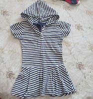 Летнее полосатое платье для девочки б/у