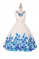 Шикарное нарядное платье без рукавов  2-16 лет , фото 1