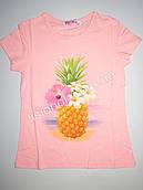 Детская футболка с ананасом, Венгрия 104см, Коралловый