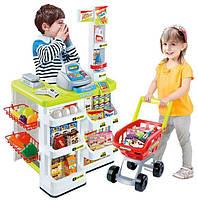 Детский магазин 668-01, прилавок, кассовый аппарат, тележка, продукты, развивающие игры, игра магазин