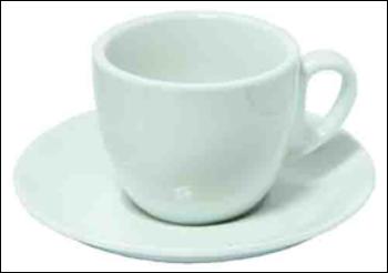 Чашка с блюдцем Белая Нежность, 100 мл